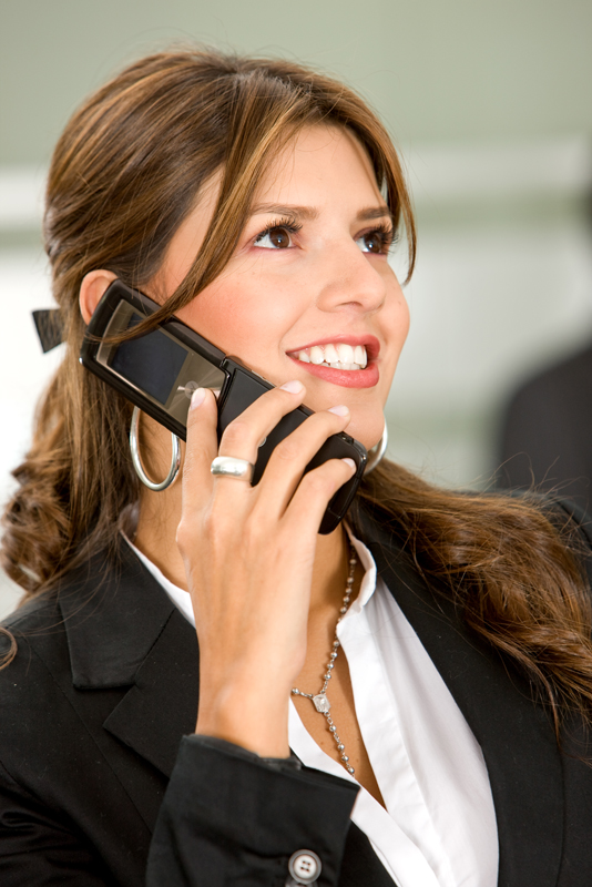 business woman on a cellphone